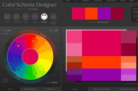 colour scheme creator dhsidesign using color scheme designer