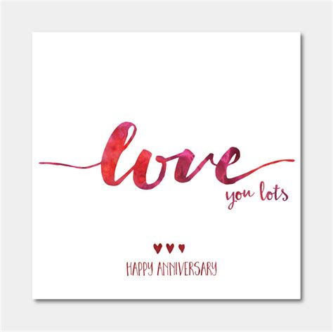 anniversary cards you lots anniversary card by ivorymint stationery