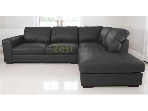 Corner Sofa With Chaise Lounge Venice Right Corner Sofa Black Faux Leather W Chaise Lounge