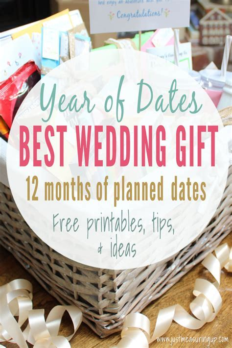 Year of Dates Wedding Gift with Printables   Best Wedding