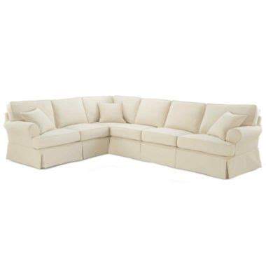 jcpenney friday sofa friday twill 4 pc slipcovered sectional found at