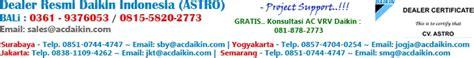 Ac Daikin Lung dealer resmi daikin indonesia 187 acdaikin