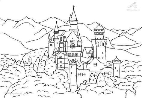 german castle coloring page malvorlagen fur kinder ausmalbilder ritterburg kostenlos