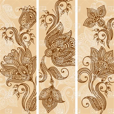 indian henna style tattoos background banner henna makedes