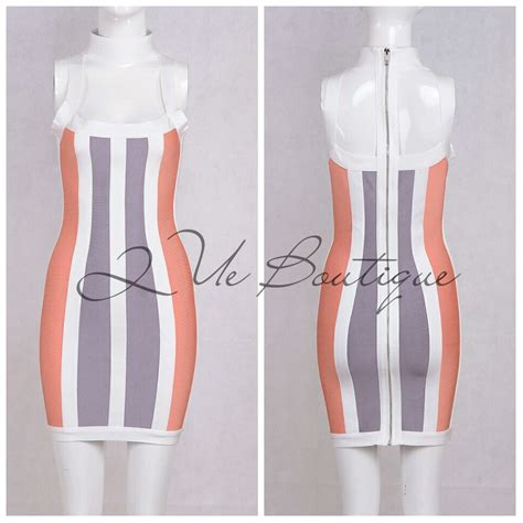 Mini Dress Gaun Grid Pattern 188937 Original Sale mini stripe cut bandage dress 183 que boutique 183 store powered by storenvy
