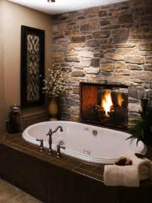 25 bathroom fireplaces that make any bath a wow therapy