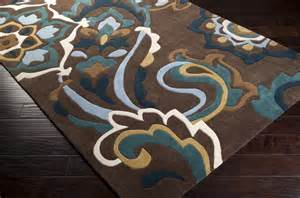 cosmopolitan multicolor mossy gold and teal rug