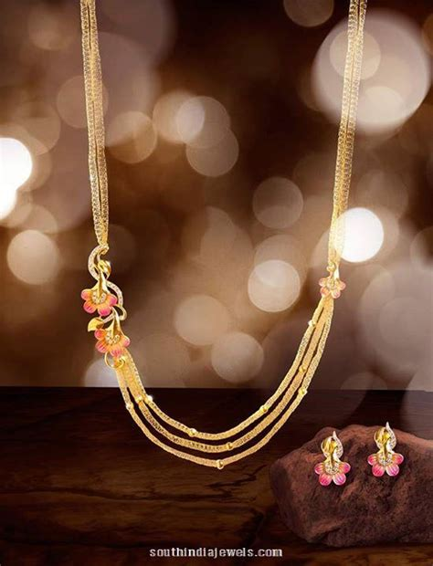 make sted jewelry gold step chain necklace from one south india jewels