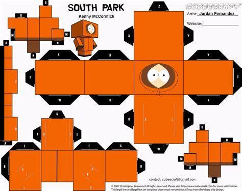 Papercraft Park - south park kenny cubee templat by jordof131 on deviantart