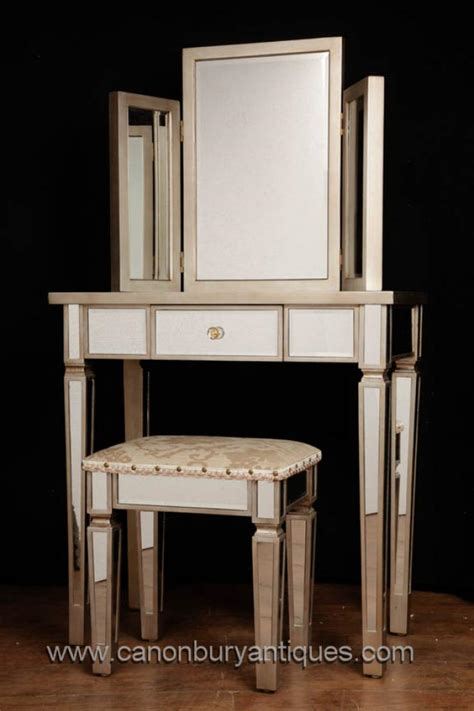 bedroom furniture sets with dressing table art deco mirrored dressing table stool set bedroom furniture