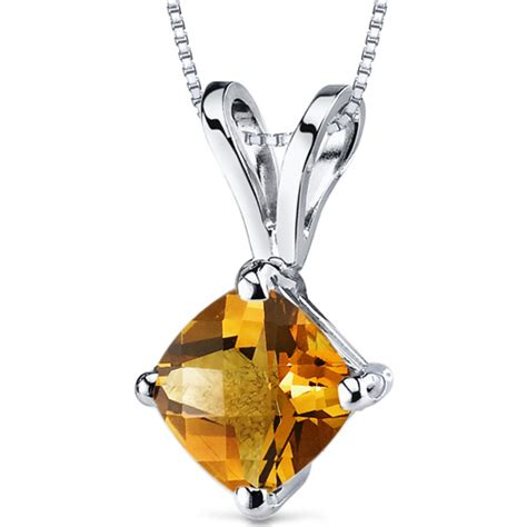 white gold citrine necklaces jewelry design 2014