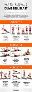 printable workout dumbbell circuit popsugar