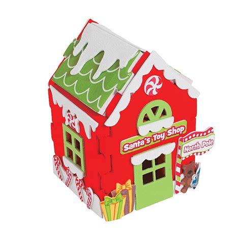 3d santa s toy shop christmas craft kit oriental trading