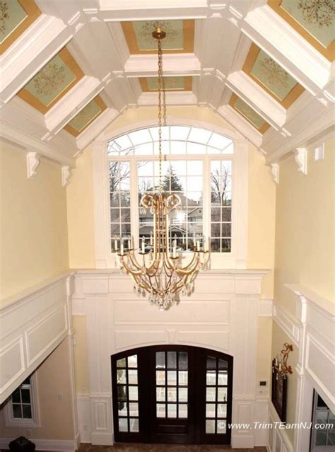 vaulted foyer 1000 ideas about coffered ceilings on ceiling