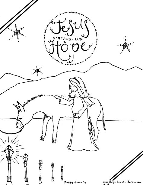 christian advent coloring pages mary traveling to bethlehem coloring page