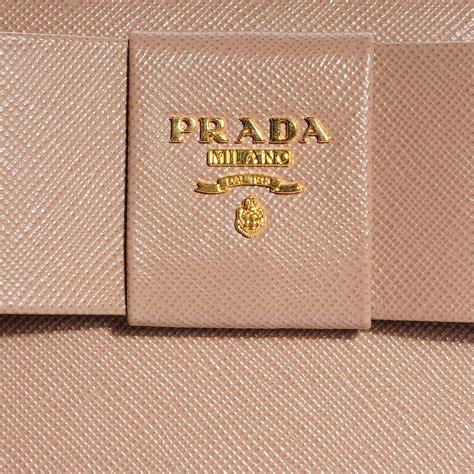 Prada Saffiano Clutch Vs Tessuto Fiocco Bow Bag by Prada Saffiano Fiocco Bow Zip Around Wallet Cammeo 103014