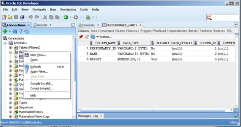 membuat query di xp oracle database schema teknologi informasi indonesia
