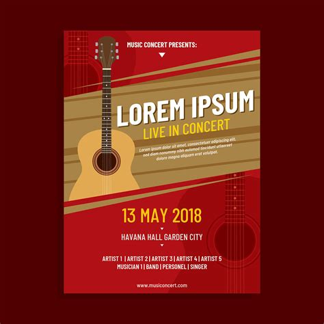 Acoustic Concert Poster Template Vector Download Free Vector Art Stock Graphics Images Concert Poster Template