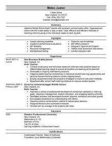 Stand Out Resume Exles by Update 6 Exle Resume For Teachers 41 Documents Bizdoska