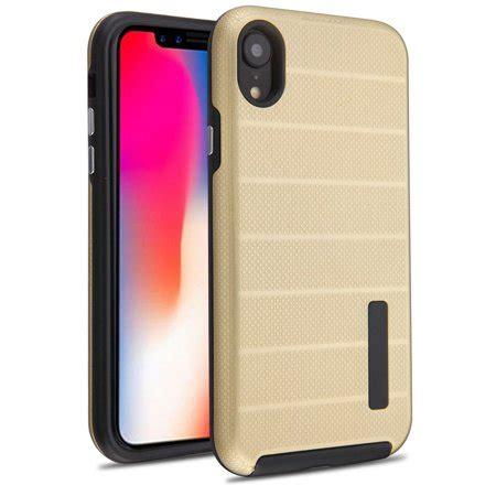 mundaze for apple iphone xr fusion series hybrid gold walmart
