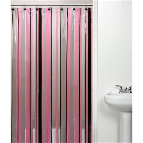 Pink And Black Shower Curtain by Hton Stripe Pink Black Shower Curtain Shower Curtains