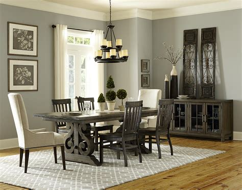 Magnussen Home by Magnussen Home Bellamy Transitional Pedestal Dining