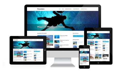 wordpress theme responsive layout poseidon themezee