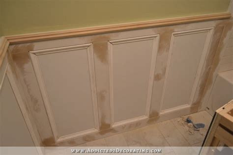 bathtub wall paneling finished recessed panel wainscoting judges paneling with