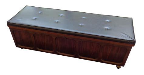 cedar chest bench 1969 padded top lane cedar chest bench chairish