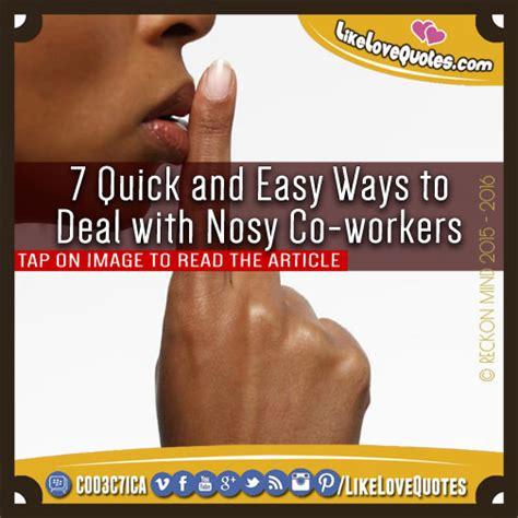 7 Ways To Handle A Crush On A Co Worker by Nosey Co Worker Quotes Quotesgram