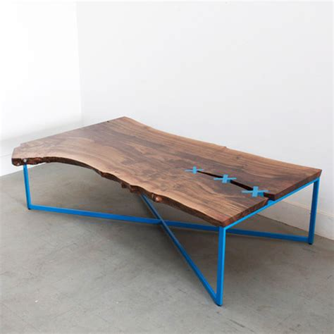 stitch wood top dining table coffee table stitch by uhuru design