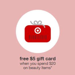 Target 5 Gift Card With Purchase - target 5 giftcard with 20 beauty purchase beauty deals blog