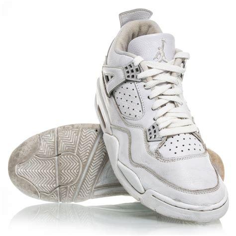 chrome basketball shoes air 4 retro mens basketball shoes white chrome