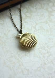 Seashell Chandeliers Melody S Locket Little Mermaid Locket Seashell Necklace