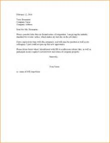 Resignation Letter With Two Weeks Notice by 7 2 Week Notice Letter Basic Appication Letter
