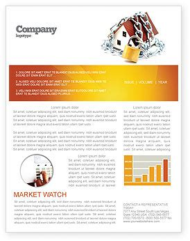 Home Security Newsletter Template For Microsoft Word Adobe Indesign 03203 Download Now Security Newsletter Template
