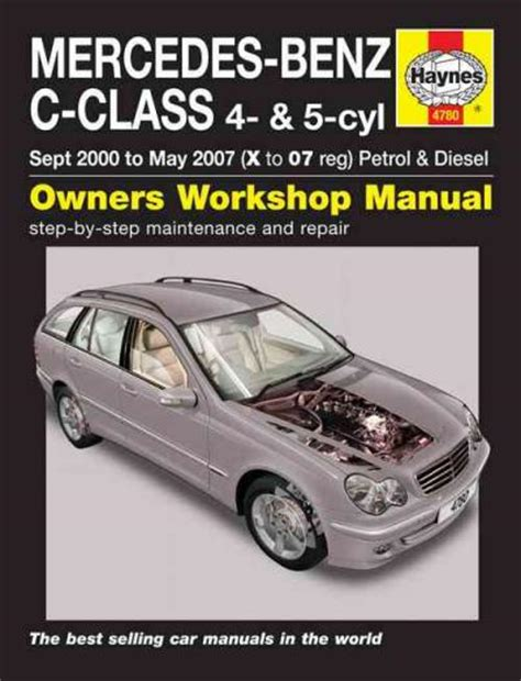 online auto repair manual 2000 mercedes benz c class lane departure warning mercedes benz c class w203 petrol diesel 2000 2007 workshop car manuals repair books
