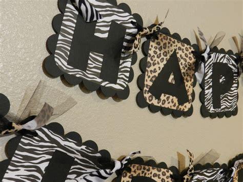 printable zebra birthday banner zebra and leopard birthday banner animal print on luulla