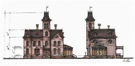 elevation   addams house  addams family values  production design ken adam