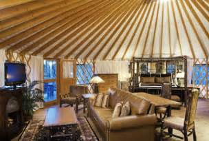 Treehouse Homes For Sale inside a yurt in bluegreen shenandoah crossing