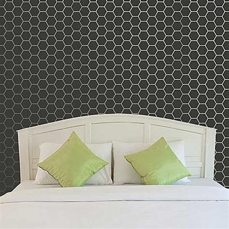 honeycomb pattern roller allover wall stencils honeycomb stencils royal design
