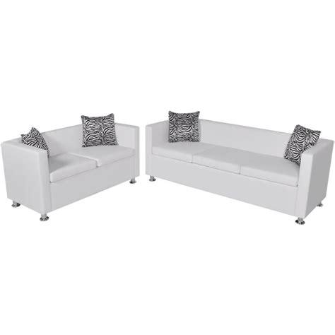 divano bianco divano bianco 3 posti e 2 posti vidaxl it