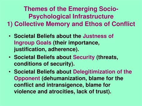 emerging themes definition ppt culture of conflict evolvement