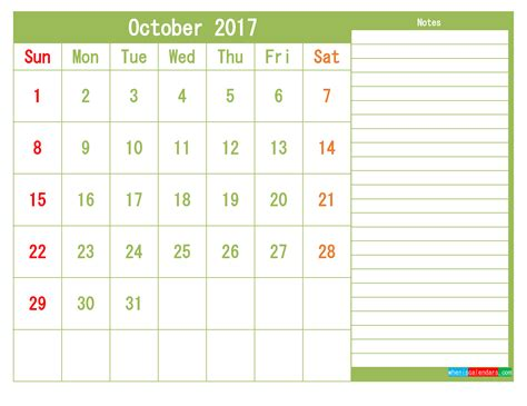 printable monthly calendar 2017 pdf printable 2017 calendar templates october pdf png