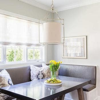 banquette cushions white kitchen island with stainless steel countertop transitional kitchen