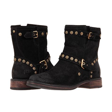 ugg boots black suede ankle boots fabrizia studs ugg