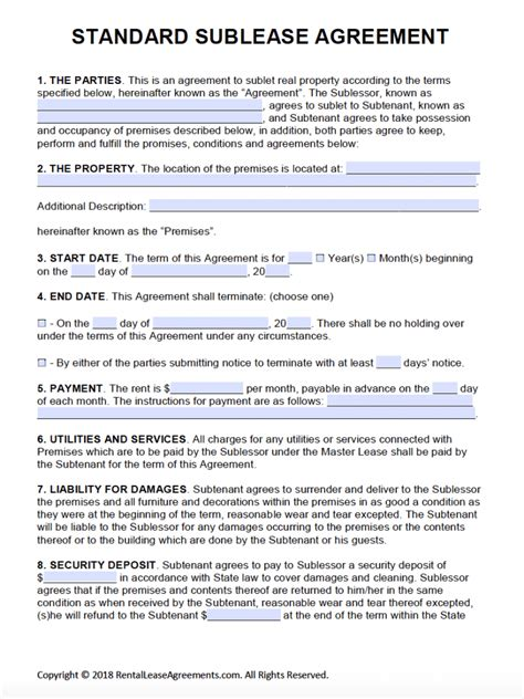 rental house template free printable rental lease agreement templates pdf word