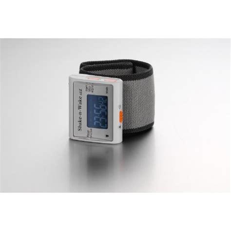 geekshive silent vibrating personal alarm clock quot shake n quot white travel clocks alarm