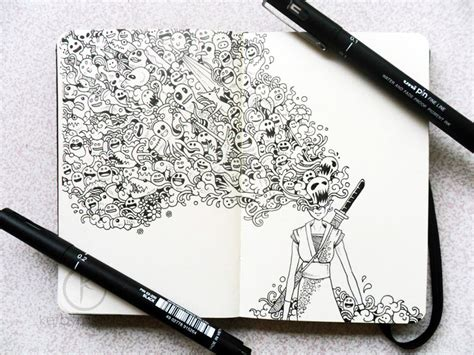 how to use doodle pen beautifully detailed pen doodles by artist kerby rosanes