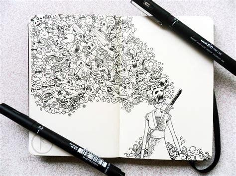 doodle black pen beautifully detailed pen doodles by artist kerby rosanes